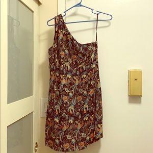 One shoulder print dress